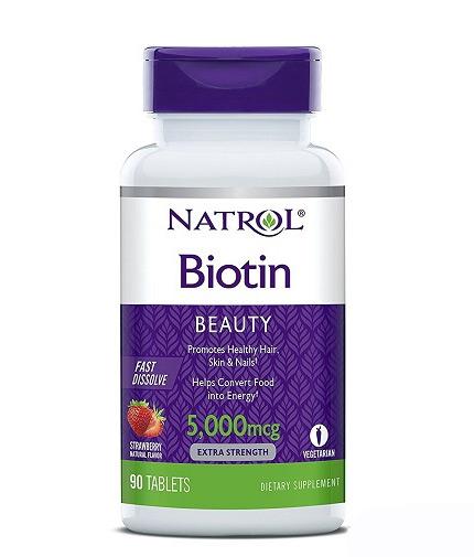 natrol Biotin 5000mcg Fast Dissolve / 90 Tabs