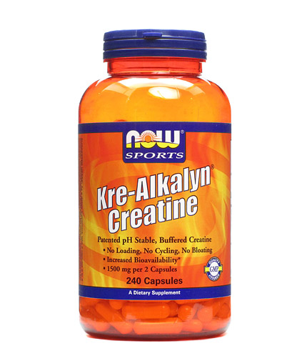 now Kre-Alkalyn ® Creatine 240 Caps.