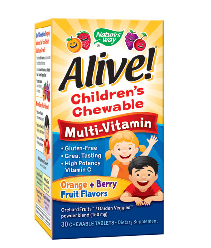 natures-way Alive! Children's Multi-Vitamin Chewable / 30 Chews