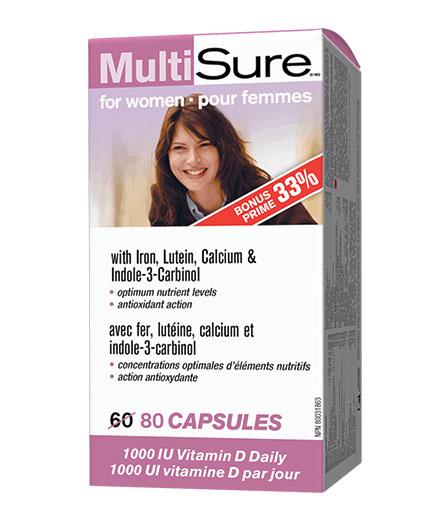 webber-naturals MultiSure for Women / 80 Caps