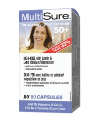 WEBBER NATURALS MultiSure for Women 50+ / 80 Caps