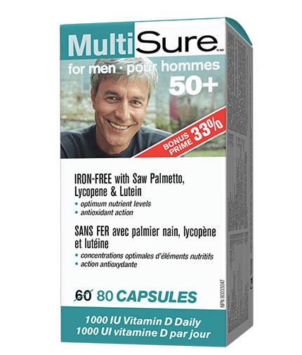 webber-naturals MultiSure for Men 50+ / 80 Caps