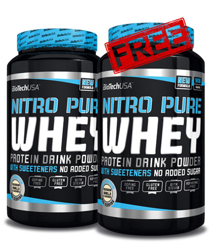 promo-stack Nitro Pure Whey Gold 1+1 FREE Stack