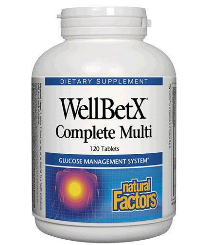 natural-factors WellBetX Complete Multi Diabetic  / 120 Tabs