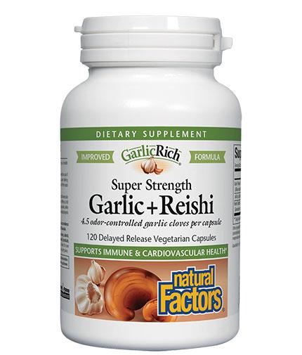 natural-factors Super Strength Garlic + Reishi / 120 Vcaps