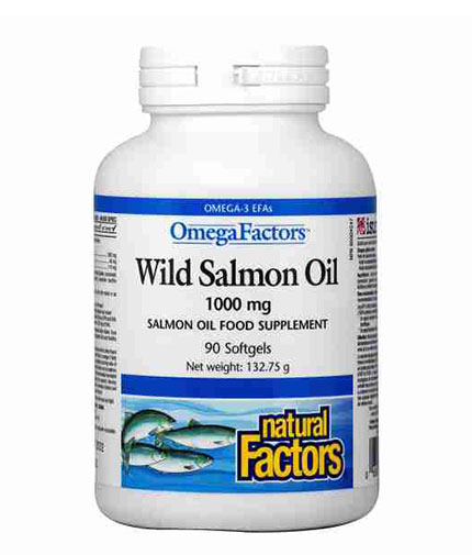 natural-factors Wild Salmon Oil 1000mg / 90 Softgels