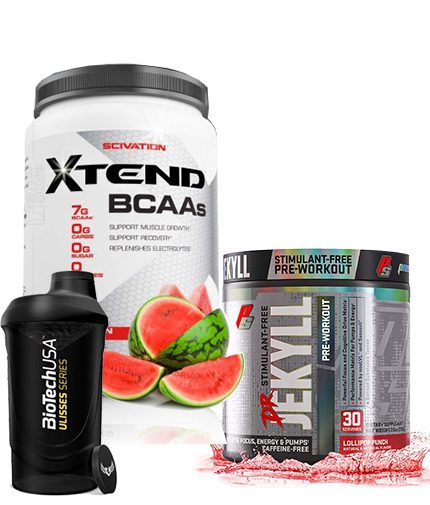 promo-stack XTEND + PRE WORKOUT + SHAKER
