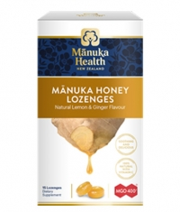MANUKA HEALTH MGO™400+ Manuka Honey Lozenges with Ginger & Lemon