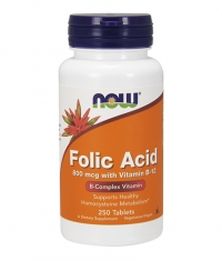 NOW Folic Acid  + B-12  250 tabs