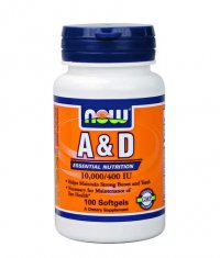 NOW Vitamin A & D 10,000 / 400 IU / 100 Softgels