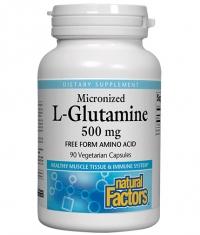 NATURAL FACTORS L-Glutamine Micronized 500 mg / 90 Caps