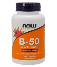NOW Vitamin B-50 Complex with Vitamin C / 100 Caps.
