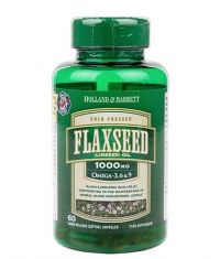 HOLLAND AND BARRETT Flaxseed Linseed Oil 1000 mg / Omega 3-6-9 / 60 Softgels
