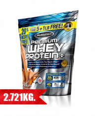 MUSCLETECH 100% Premium Whey Protein Plus / 5 + 1 lbs. FREE