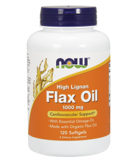 NOW High Lignan Flax Oil 1000mg. / 120 Softgels