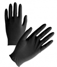 CONSUMATIVES Nitrile Gloves without Talc / Black / 100 Pieces