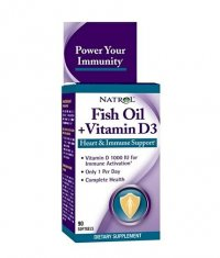 NATROL Fish Oil & Vitamin D3 / 90 Softgels