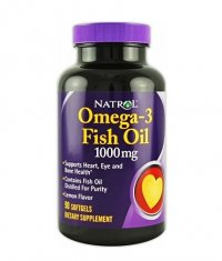 NATROL Omega-3 Fish Oil 1000mg. / 90 Softgels