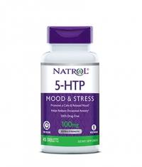 NATROL 5-HTP Time Release 100mg. / 45 Tabs.