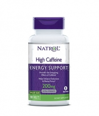 NATROL High Caffeine 200mg. / 100 Tabs.