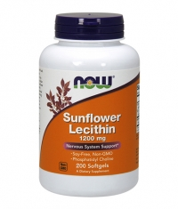 NOW Sunflower Lecithin /Non-GMO/1200mg./ 200 Softgels