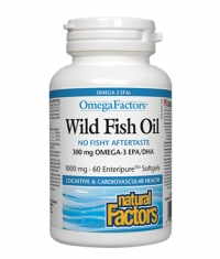 NATURAL FACTORS Wild Fish Oil 1000mg. / 60 Softgels
