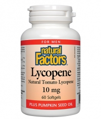 NATURAL FACTORS Lycopene 10mg. / 60 Softgels.