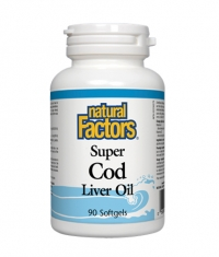 NATURAL FACTORS Super Cod Liver Oil 1100mg. / 90 Softgels.