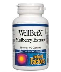 NATURAL FACTORS WellBetX Mulberry Extract 100mg / 90 Caps.