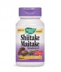 NATURES WAY Shiitake Maitake Standardized 60 Caps.