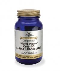 SOLGAR Nutri-Nano Co-Q10 & Alpha Lipoic Acid 60 Caps.