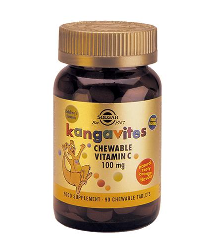 SOLGAR Kangavites Chewable Vitamin C 100mg. / 90 Chewable Tabs.