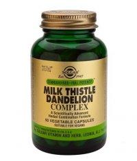 SOLGAR Milk Thistle/Dandelion Complex  50 Caps.