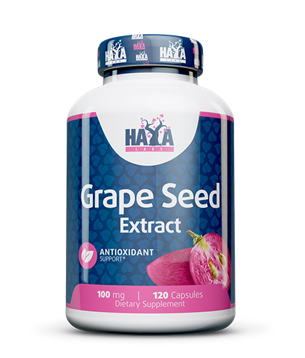 HAYA LABS Grapeseed Extract 100mg. / 120 caps.