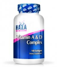 HAYA LABS Vitamin A & D / 100 Softgels