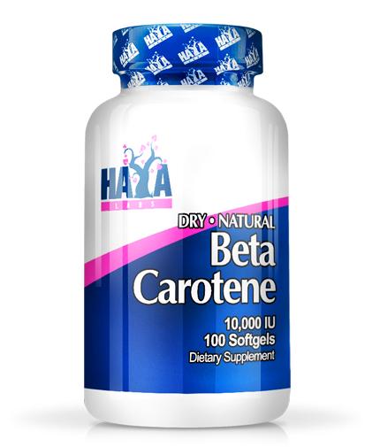 HAYA LABS Natural Beta Carotene 10,000 IU / 100soft.