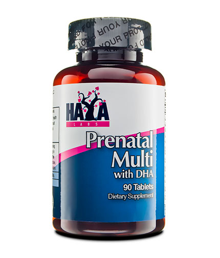 HAYA LABS Prenatal Multivitamin with DHA / 90 Tabs.