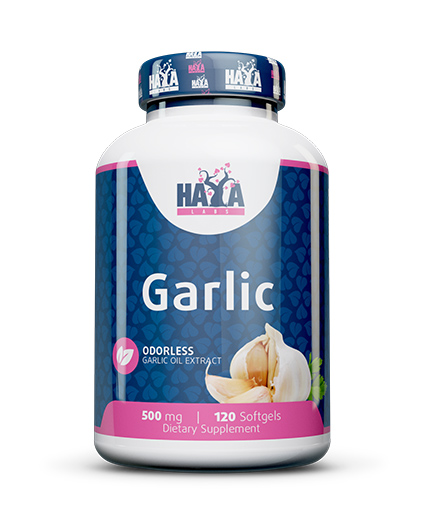 haya-labs Odorless Garlic 500mg. / 120 Softgels