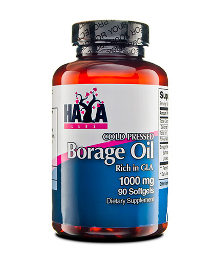 HAYA LABS Cold Pressed Borage Oil / 1000mg. / 90 Softgels