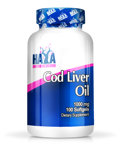 HAYA LABS Cod Liver Oil 1000mg. / 100 Softgels