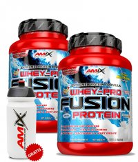 PROMO STACK Amix Whey Pure Fusion 2.2 Lbs. / x2