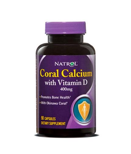 natrol Coral Calcium & Magnesium with Vitamin D 90 Caps.