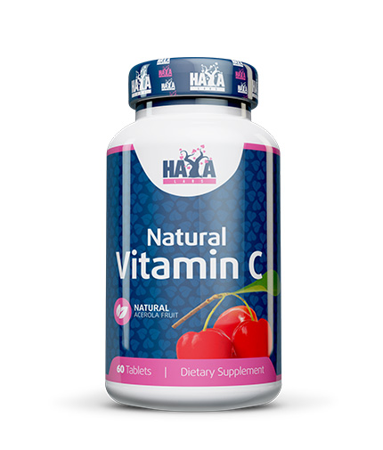HAYA LABS Organic Vitamin C from Organic Acerola fruit 60 Tabs.