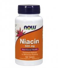 NOW Niacin 500mg / 100 Tabs.