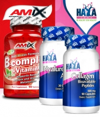 PROMO STACK Haya Labs Hyaluronic Acid / HAYA Collagen / Amix B-Complex +Vitamin C&E