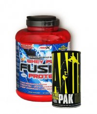 PROMO STACK Amix Whey Pure Fusion 5 Lbs. / Universal Animal Pak 44