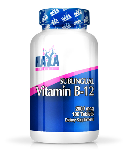 HAYA LABS Vitamin B12 /Sublingual/ 2000mcg / 100 Tabs.