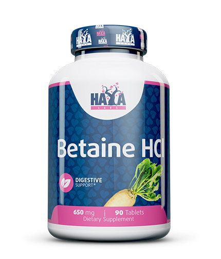 haya-labs Betaine HCL 650mg / 90 Tabs.