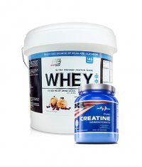 PROMO STACK Everbuild Whey Build 10 Lbs. / MEX Creapure Creatine Monohydrate 540g.