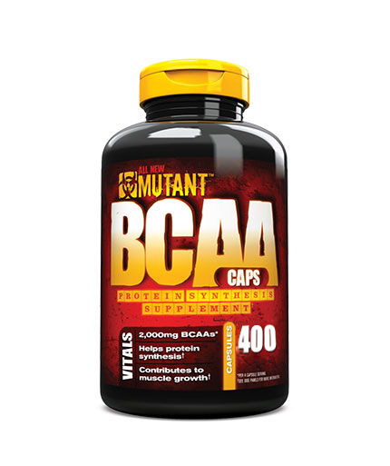 mutant 100% Free Form BCAAs In Ultra-fast Capsule Delivery / 400caps